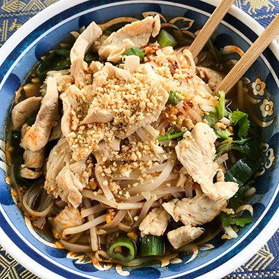 a bowl of khao soi noodles from khao soi thai cafe in kendal
