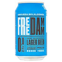 A can of Free Damm alcohol free beer