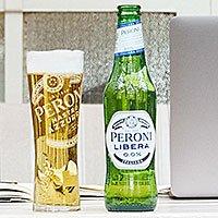 A bottle of Peroni Libera alcohol free lager
