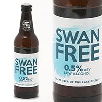 A bottle of Swan Free alcohol free beer