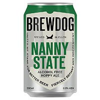 A can of Brewdog Nanny State alcohol free beer