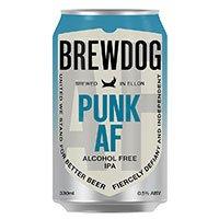 A can of Brewdog Punk AF alcohol free beer