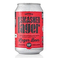 A can of Smashed Lager alcohol free lager
