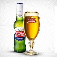A bottle of Stella Artois Zero alcohol free beer